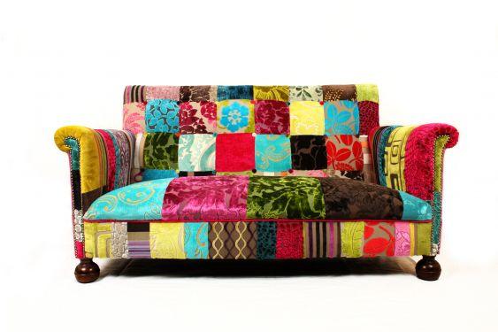 Designers Guild stoffrester ble til lekker sofa.