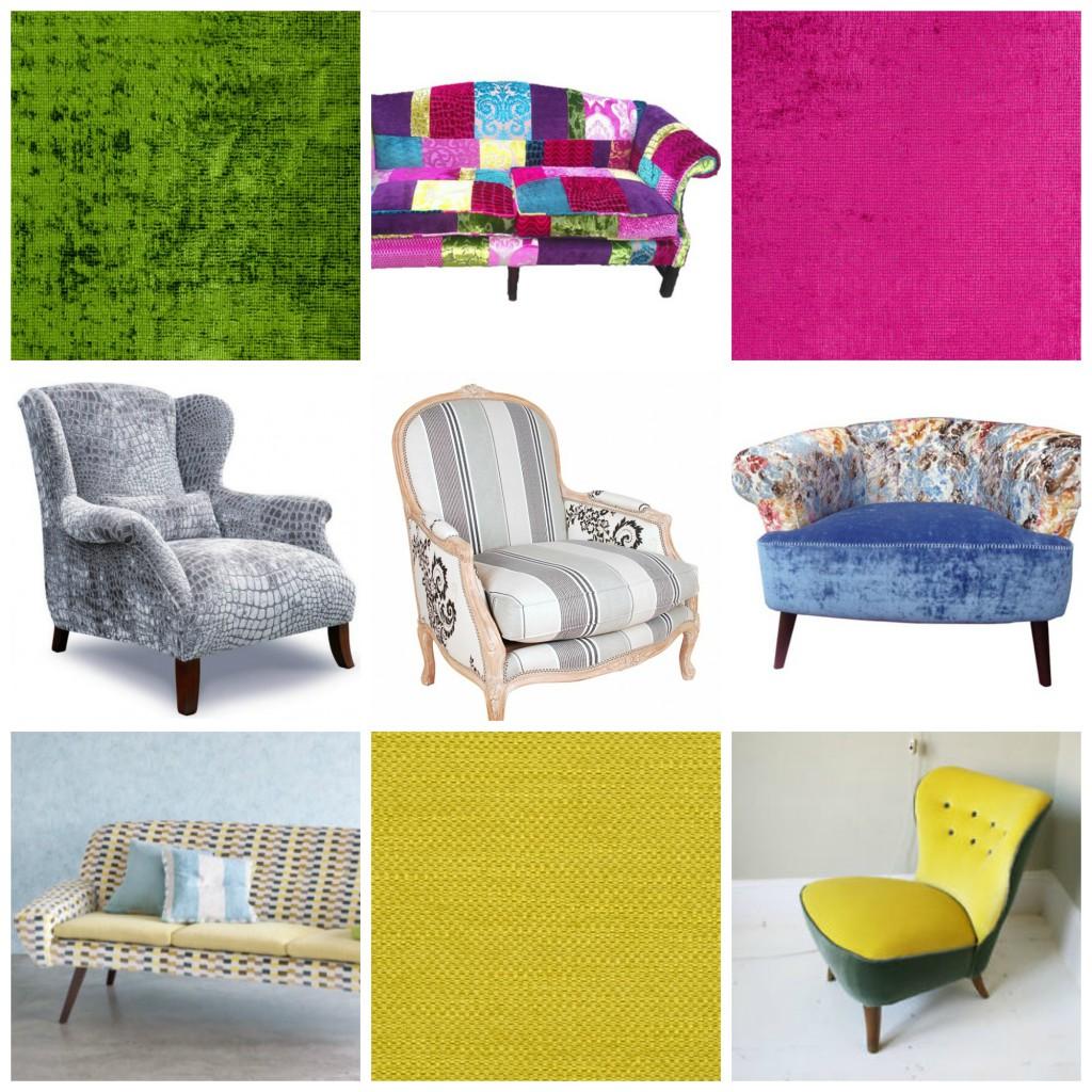 Kreative møbler trukket i Designers Guild stoffer.