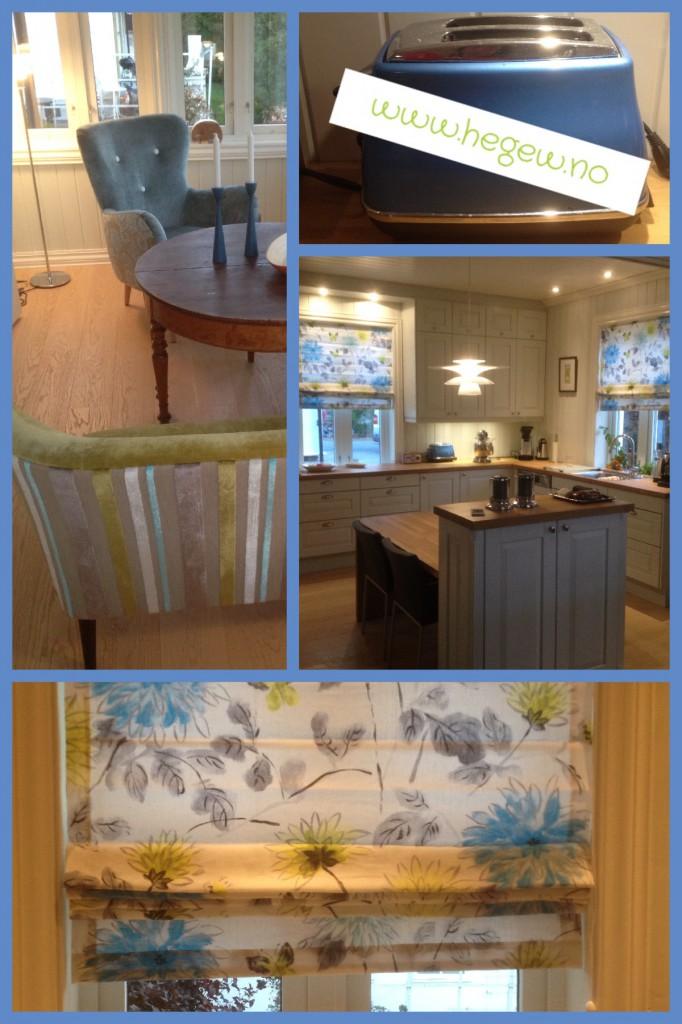 Gardiner og møbler spesialtilpasset til hus på Domkirkeodden i Hamar.