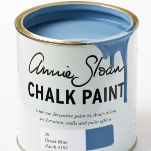 chalk paint greek blue