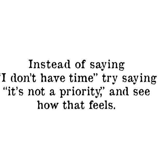 Instead of saying...